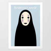 Spirited Away / No Face Art Print by Shea Kennedy