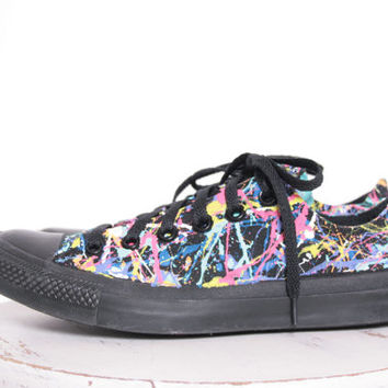Adult Splatter Painted Sneakers Size 3.5-12, Painting Only, You Ship Us Your Shoes, Custom Made