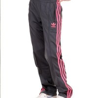 Adidas Firebird Women`s Track Pants - Dark Onix / Ultra Pop