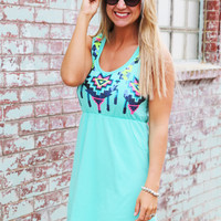 Had Me At Sequin Dress {Mint}