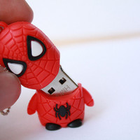 SALE30-70%OFF: 4GB Usb Super Hero Spider usb Flash Drive 4Gb , Cute Usb Flash Drive , Accessories , usb, Comic usb,