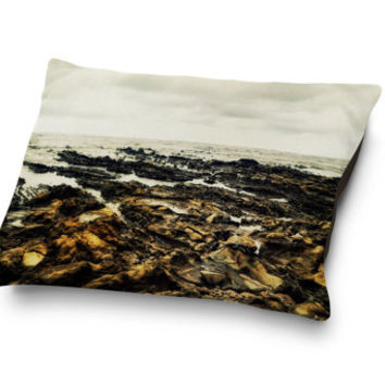 Samara Reef - Pet Bed, Tan Brown & Light Gray Beach Style Bedding, Tropical Surf Decor Pet Accessory Pillow Bed. In 18x28 30x40 40x50 Inches