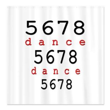 5678 dance Shower Curtain