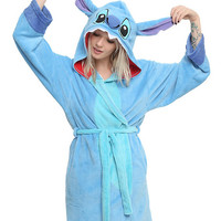 Disney Lilo & Stitch Stitch Girls Hooded Robe