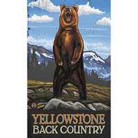 Personalized Yellowstone Back Country Wood Sign