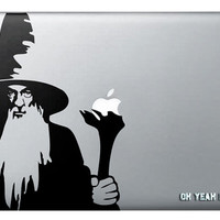 Gandalf the Grey Macbook Decalmacbook decal,Macbook Pro/Air/Ipad Stickers,Macbook Decals,Macbook Pro/ Macbook Air/laptop sticker-079