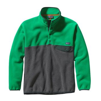 Patagonia Men's Synchilla® Recycled Snap-T® Fleece Pullover | Tumble Green