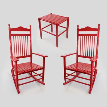 Dixie Seating Co. Calabash Wood Rocking Chair & Table Set No. 467S/1618 3pc set  - Ships within  2 to 4 Weeks