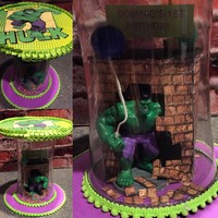 STORYBOOK CUPCAKE STANDS — Dominic's Hulk smash cake stand. Look for me at...