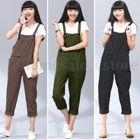 S-5XL Zanzea Women Strappy Pocket Jumpsuit Romper Casual Overalls Pencil Pants