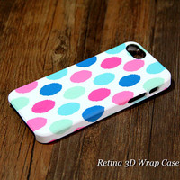 Color Dots Design 3D-Wrap iPhone 5S Case iPhone 5 Case iPhone 5C Case iPhone 4S Case iPhone 4 Case
