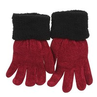 Micro Loopy Chenille Glove-Red Black W20S49B