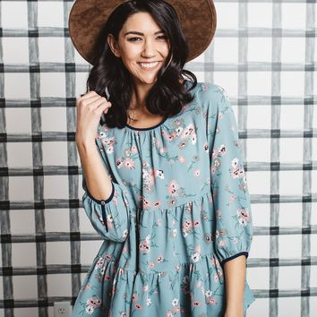 Lynlee Floral Tiered Blouse