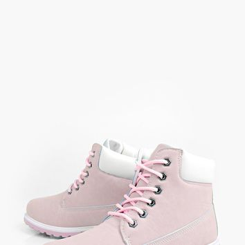 Katie Lace Up Hiker Boot