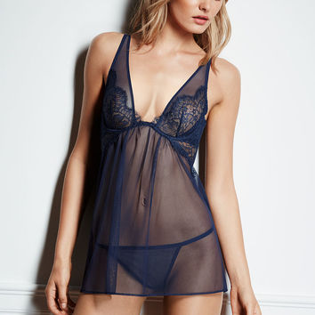 Pleated Mesh Babydoll - Very Sexy - Victoria's Secret