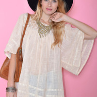 Mexican Lace Gauzy Tunic