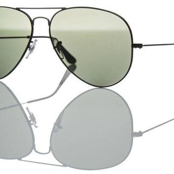 Kalete Ray-Ban Aviator Sunglasses - Authentic RB 3025 002/58 Black Dark Grey Lens 62mm