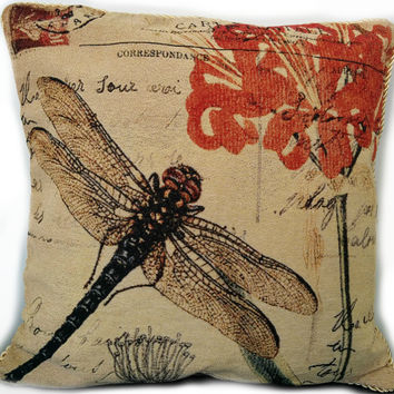 Tache Fly High Dragonfly Throw Pillow Cushion Cover