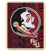 Florida State Seminoles NCAA Triple Woven Jacquard Throw (Double Play Series) (48x60)