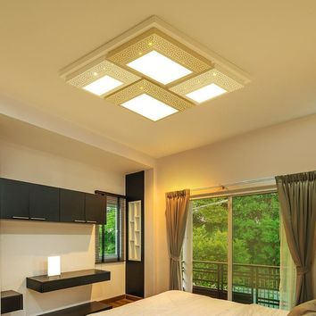 Square LED Ceiling Light Iron Lamp Dining Room