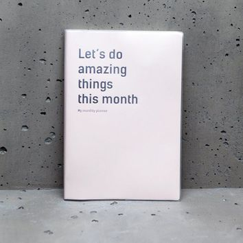 Let's do amazing things this month' Planner - STATIONERY - WOMAN | Stradivarius United Kingdom