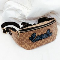 COACH New fashion pattern leather waist pack bust bag shoulder bag crossbody bag