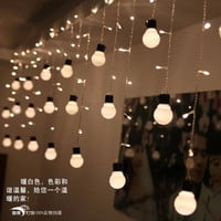 5CM big size 10 ball 1.5*0.5m  LED Curtain  String Black wire LED Starry Lights Christmas Wedding indoor outdoor Decor Light