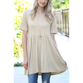 Short Sleeve Empire Waist Tunic