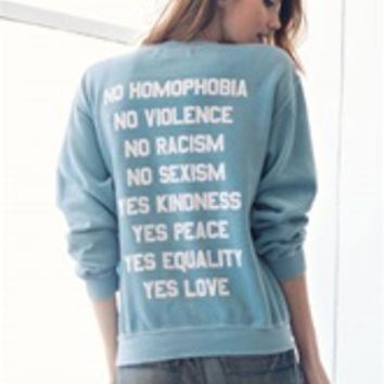 NO YES Unisex Crew Neck Sweatshirt