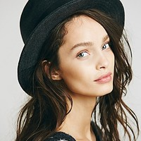 Free People Womens Faye High Crown Hat - Grey One