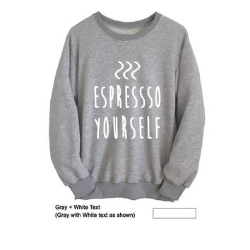Coffee Sweatshirt Cool Cozy Graphic Sweater Unisex T-Shirts College Student Gift Ideas Birthday Christmas New Year