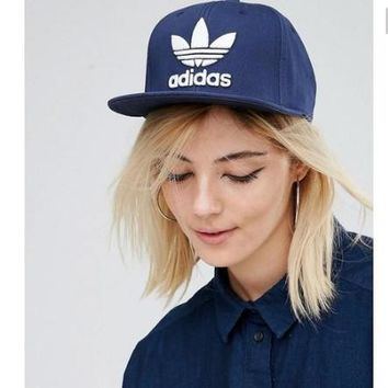 Adidas Performance Max Side Hit Baseball Cap Golf Hat Relaxed Fit Blue white logo