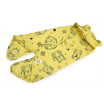Organic Baby Bunting Bag - Yellow