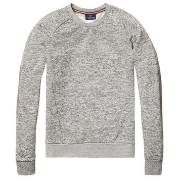 Retro Elbow Patch Sweater by Scotch & Soda