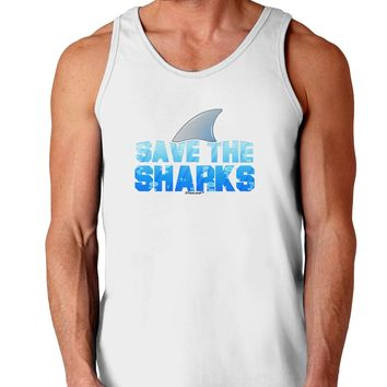 Save The Sharks - Fin Color Loose Tank Top  by TooLoud