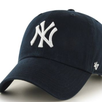 Forty Seven Brand New York Yankees Home Clean Up Hat In Navy