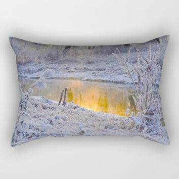 It's Gold Outside Rectangular Pillow by Mixed Imagery