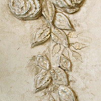Raised Plaster Cabbage Rose and Plaster Mold Stencil Set,Wall Stencil,Painting Stencil,Craft Stencil