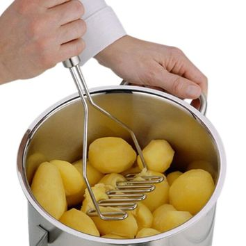 Kitchen Gadgets Stainless Steel Potato Mud Pressure Mud Machine Potatoes Masher Ricer Fruit Vegetable Tools Accessories
