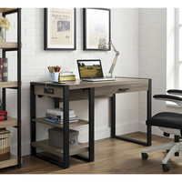 "Walker Edison 48"" Urban Blend Computer Desk - Driftwood or Charcoal"