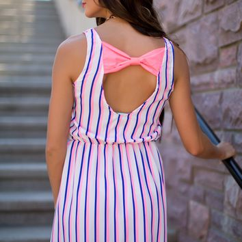 Peek-a-Bow Dress in Pink