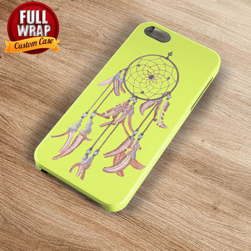 Yellow Dreamcatcher Full Wrap Phone Case For iPhone, iPod, Samsung, Sony, HTC, Nexus, LG, and Blackberry