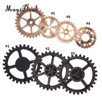 MagiDeal Rustic Wooden Circle Gear Home Bar Cafe Wall Hanging Art Craft Ornaments Home Room Wall Decoration Wooden Gear