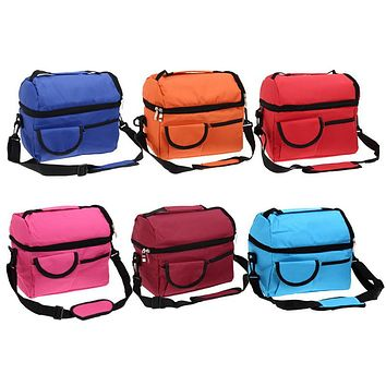 Square Thermal Bag Women Men Lunch Bag Cooler Beam Port Lunch Box Lady Handbag Children Kids Lunch Bags Insulation Bag