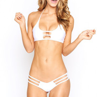 Montce Swim - Sand Dollar Preview Bottom | White Bikini Bottom