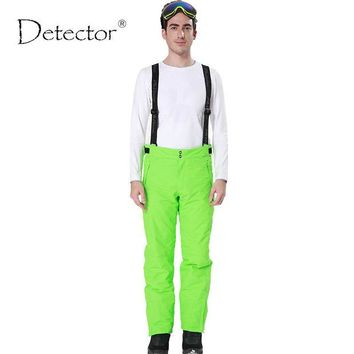 DKF4S Detector new outdoor Windproof Waterproof Breathable Double Layer Winter ski pants snow trousers ski Snowboarding pants man