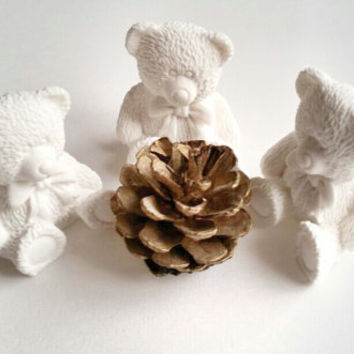 Scented stone bear , Baby shower favor , Party favor , Birthday gift , Ornament , New baby , Room decor