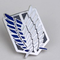 Cool Attack on Titan Japanese Anime  Brooch no  Scouting Legion Liberty Wings Badge Men Women Fashion Brooch Pin AT_90_11
