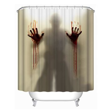 Fashion Happy Halloween Waterproof Polyester Fabric Shower Curtain