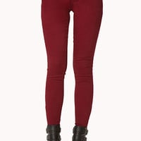 Colored Zippered Skinny Jeans